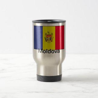 Bandera del Moldavia Taza De Viaje De Acero Inoxidable