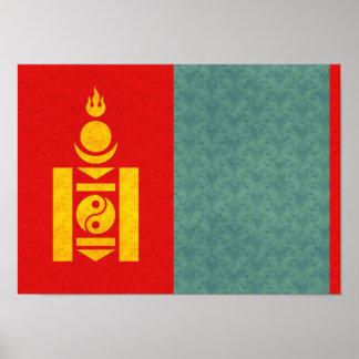 Bandera del Mongolian del modelo del vintage Impresiones