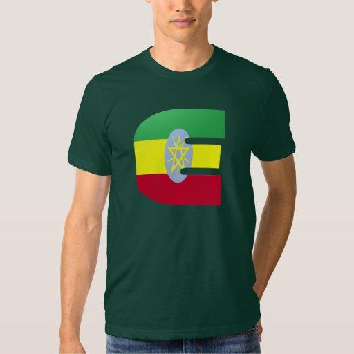 Bandera del monograma de E (Etiopía) Playera