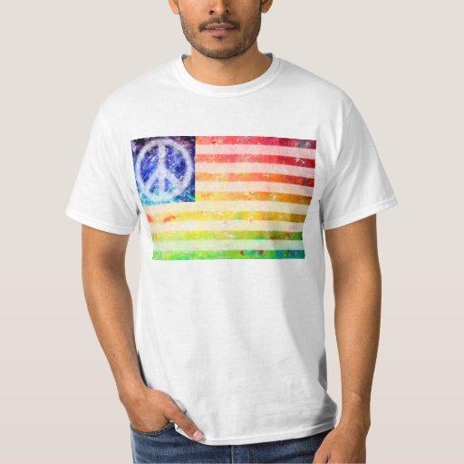 Bandera del monstruo de la paz del Hippie Playera