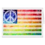 Bandera del monstruo de la paz del Hippie Felicitaciones