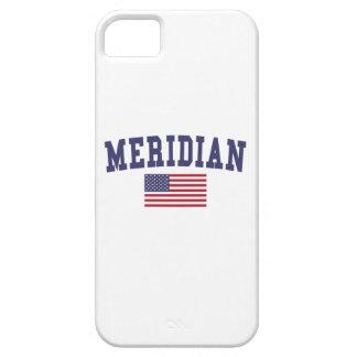 Bandera del ms los E.E.U.U. del meridiano Funda Para iPhone SE/5/5s