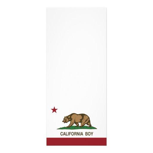Bandera del muchacho de California Comunicado Personalizado