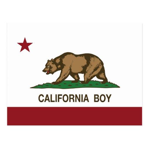 Bandera del muchacho de California Postal