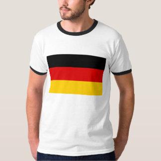Bandera del mundo de Alemania Remera