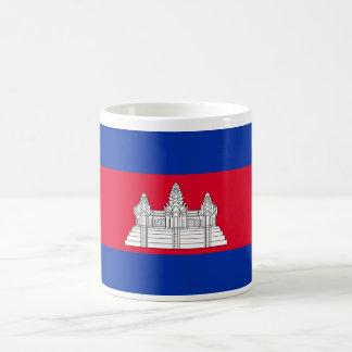Bandera del mundo de Camboya Taza