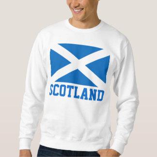 Bandera del mundo de Escocia Pull Over Sudadera