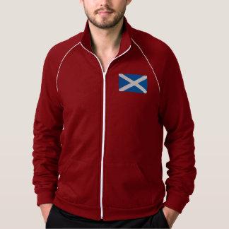 Bandera del mundo de Escocia Sudadera American Apparel De Forro Polar Con Crema