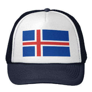 Bandera del mundo de Islandia Gorro