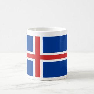 Bandera del mundo de Islandia Taza Clásica