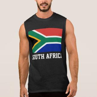 Bandera del mundo de Suráfrica Remeras Sin Mangas