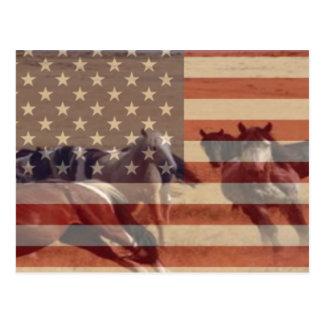 Bandera del mustango postales