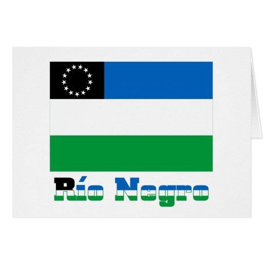 Bandera del negro de Río con nombre Tarjeta De Felicitación