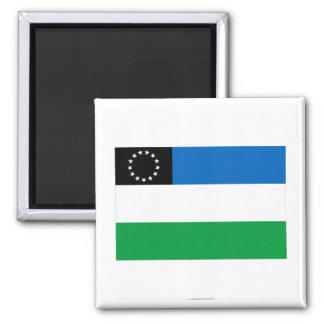 Bandera del negro de Río Imán Cuadrado