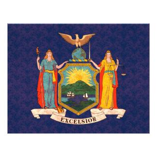 Bandera del neoyorquino del modelo del vintage tarjetas informativas