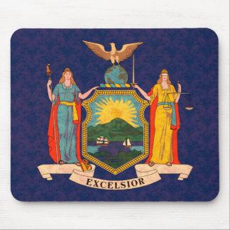 Bandera del neoyorquino del modelo del vintage alfombrilla de raton