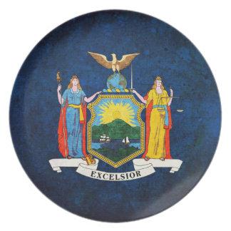 Bandera del neoyorquino platos para fiestas