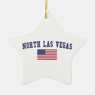 Bandera del norte de Las Vegas los E.E.U.U. Adorno Navideño De Cerámica En Forma De Estrella
