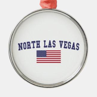 Bandera del norte de Las Vegas los E.E.U.U. Adorno Navideño Redondo De Metal