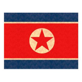 Bandera del North Korean del modelo del vintage Tarjetas Postales