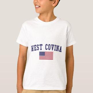 Bandera del oeste de Covina los E.E.U.U. Playera