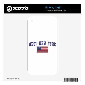 Bandera del oeste de Nueva York los E.E.U.U. Calcomanía Para iPhone 4