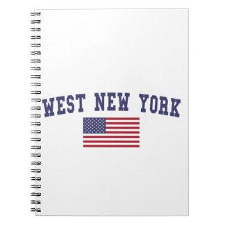 Bandera del oeste de Nueva York los E.E.U.U. Cuadernos