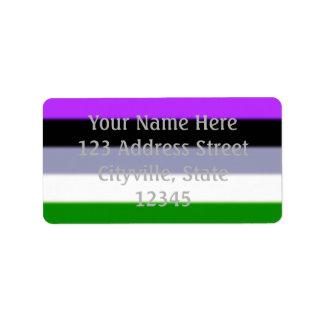Bandera del orgullo de Falln Genderqueer Etiqueta De Dirección