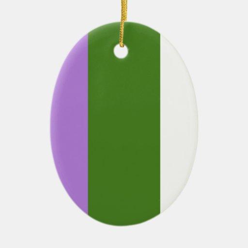 Bandera del orgullo de Genderqueer Adornos
