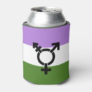 Bandera del orgullo de Genderqueer Enfriador De Latas