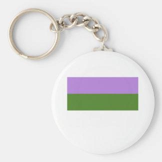 Bandera del orgullo de Genderqueer Llavero Personalizado
