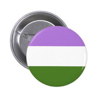 Bandera del orgullo de Genderqueer Pin Redondo De 2 Pulgadas