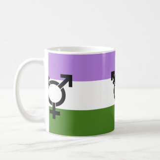 Bandera del orgullo de Genderqueer Taza