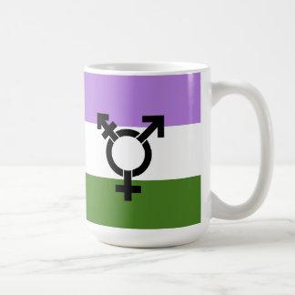 Bandera del orgullo de Genderqueer Taza Clásica