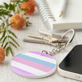 Bandera del orgullo de Intersex Llavero Redondo Acrílico A Doble Cara