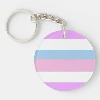 Bandera del orgullo de Intersex Llavero Redondo Acrílico A Una Cara