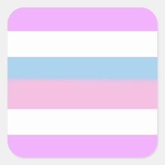 Bandera del orgullo de Intersex Pegatina Cuadrada