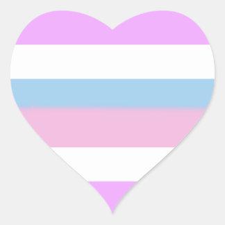 Bandera del orgullo de Intersex Pegatina En Forma De Corazón