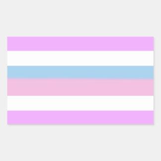 Bandera del orgullo de Intersex Pegatina Rectangular