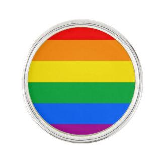 Bandera del orgullo de LGBT/bandera del arco iris Insignia
