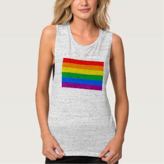 Bandera del orgullo de LGBT/bandera del arco iris Playera Con Tirantes