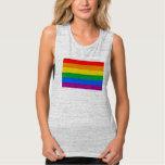 Bandera del orgullo de LGBT/bandera del arco iris Playera De Tirantes Anchos