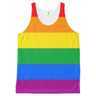 Bandera del orgullo de LGBT/bandera del arco iris Playera De Tirantes Con Estampado Integral