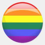 Bandera del orgullo de LGBT Pegatinas Redondas