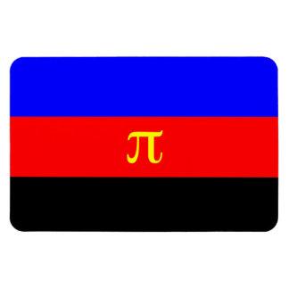 Bandera del orgullo de Polyamory Imán Flexible