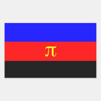 Bandera del orgullo de Polyamory Pegatina Rectangular