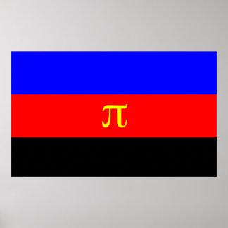 Bandera del orgullo de Polyamory Póster
