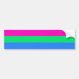 Bandera del orgullo de Polysexual Etiqueta De Parachoque