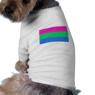Bandera del orgullo de Polysexual Camisetas De Perro