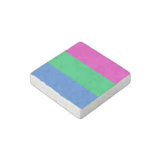 Bandera del orgullo de Polysexual Imán De Piedra